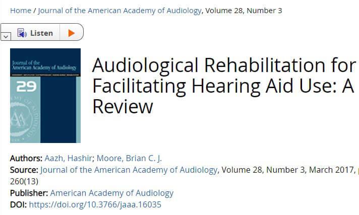 audiological rehabilation